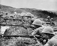 japanese naval infantry aiming with their arisaka rifles (china 1939)