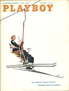 Playboy Magazine cover, November 1958- follow us www.helmetbandits.com like it, love it, pin it, share it!