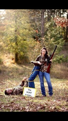 Funny idea for engagement pictures!