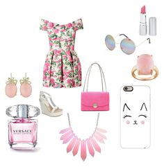 """Love pink"" by mejra-mustafic ❤ liked on Polyvore featuring Lola Cruz, Marc Jacobs, Full Tilt, Casetify and HoneyBee Gardens"