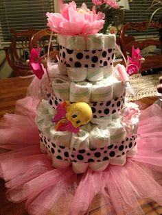 Pamper cake with tule