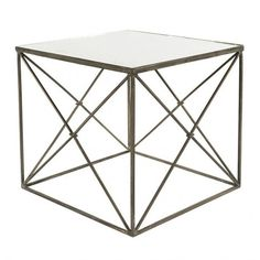 Furano Side Table in Zinc design by Aidan Gray ($682) ❤ liked on Polyvore featuring home, furniture, tables, accent tables, colored end tables, aidan gray, european furniture, zinc furniture and zinc tables