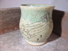 Mug - Harry Potter - Marauder's Map - by Blaine Atwood - item 1560 by batwoodcreations on Etsy https://www.etsy.com/listing/193017707/mug-harry-potter-marauders-map-by-blaine