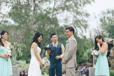Outdoor wedding ceremony at Falkirk Estates in Central Valley, NY. Captured by NYC wedding photographer Ben Lau.