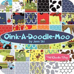 Oink-A-Doodle-Moo Yardage Jenn Ski for Moda Fabrics - Fat Quarter Shop