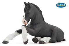 PAPO - BLACK SHIRE HORSE FOAL - 51516 - SAVE MONEY WITH GROUPED POSTAGE!