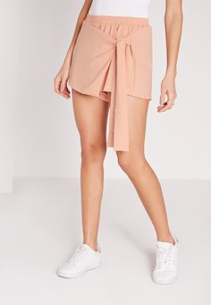 Wrap Over Skort Nude - Missguided