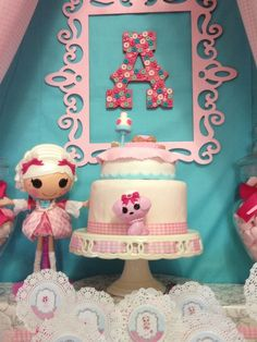 Awesome cake at a LalaLoopsy Birthday Party Ideas!  See more party ideas at CatchMyParty.com!  #partyideas #lalaloopsy