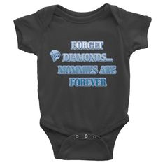 MOMMIES ARE FOREVER Infant short sleeve one-piece (BLUE)