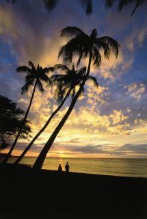 Maui beach sunset.