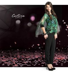 Printed blouse with cuff and open shoulder detail. #fallfashion #musthave #Cartise #women #apparel #coloryourlife www.cartise.ca