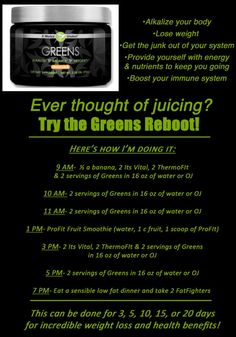 Detox with IT WORKS Green! Shop at http://sandrafriar.myitworks.com