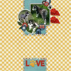 Layout created using December Template Bundle and A Dog's Tale Collection, both by Connie Prince. A Dog's Tale, Best Dogs, Digital Scrapbooking, December, Prince, Layout, Kids Rugs, Templates, Collection