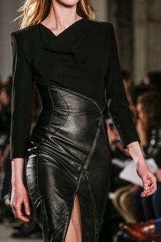 Jupe cuir noir Altuzarra, Fall 2013 RTW