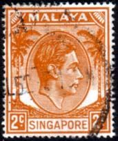 Singapore 1948 King George VI Fine Used SG 17 Scott 2a Other Asian and British Commonwealth Stamps HERE!