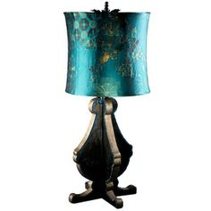 Peacock-color lampshade. 26th & Soho Flash sale.