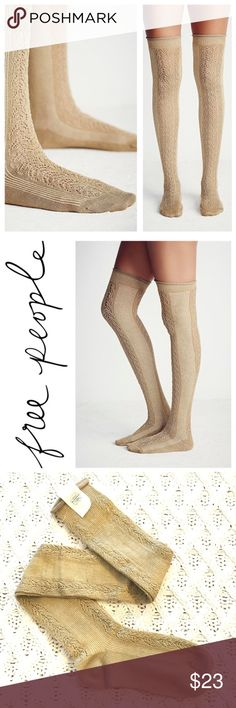🆕Listing! Free People Sarasota over the knee sock Gorgeous Free People Sarasota Over the knee sock. Brand new with tags! The coloring of the sock are so rich, almost a deep yellow/gold/tan. Imagine coffee, with a little bit of cream in it! *NO TRADES* My pictures are more accurate for the coloring. Free People Accessories Hosiery & Socks