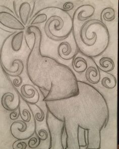 easy elephant drawing tumblr - Google Search #easydrawings