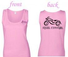 Pink & Black motorcycle tank top LOVE