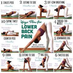 10 Yoga Flow for Lower Back pain. #yoga #exercise #fitness #back_pain #yoga_poses