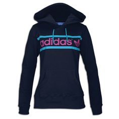 adidas Originals Heritage Logo Hoodie - Women's - Casual - Clothing - Legend Ink