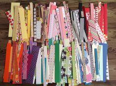 Destash, scrap paper pack,  paper strips, variety pack, paper supplies, by PinkyPromiseBargains on Etsy