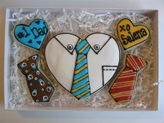 Decorated cookies for Father's Day by East Coast Cookies. Galletas decoradas Dia del Padre.