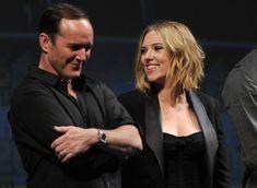 Clark Gregg & Scarlett Johansson at the 'Iron Man 2' World Premiere
