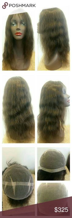 New Custom Full lace body wave wig  #2 16in. Long New Custom Full lace body wave wig  Small cap Hair is indian remy.. very soft no tangles/shedding 16in. Long  color #2 Density 125% Has baby hairs and thin skin perimeter to help protect the lace when using glue or tape  Lace is transparent   Never worn just tried on  ❤pictures are part of the description  ❤️No trades or off site transactions ❤️Open to offers ❤️Please ask questions all questions BEFORE buying. No returns Accessories