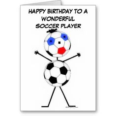 Shop Soccer Player Birthday Card created by Graphix_Vixon. Thank You Greeting Cards, Thank You Greetings, Birthday Greeting Cards, Birthday Greetings, Soccer Birthday Parties, Birthday Party Themes, Soccer Motivation, Soccer Inspiration, Soccer Coaching