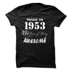 Made in 1953 - 62 years of being awesome - #disney tee #college hoodie. SECURE CHECKOUT => https://www.sunfrog.com/Birth-Years/Made-in-1953--62-years-of-being-awesome-77355802-Guys.html?68278
