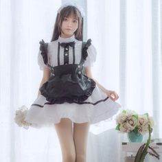 Maid Cosplay, Cosplay Dress, Costume Dress, Cosplay Costumes, Kawaii Fashion, Lolita Fashion, Maid Outfit Anime, Anime Maid, Maid Lingerie