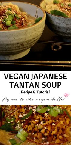 Make a spicy, fragrant vegan japanese tantan ramen soup with my recipe and tutorial!