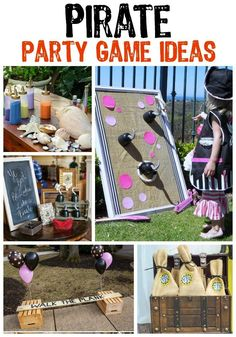The ultimate collection of pirate party ideas! Pirate food ideas, pirate party games, DIY pirate party decorations, and even pirate costume ideas! Pirate Fairy Party, Pirate Party Games, Pirate Party Decorations, Fairy Birthday Party, Pirate Birthday, Birthday Party Games, Pirate Theme, 4th Birthday Parties, Pirate Games For Kids