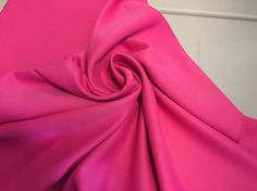 Hot Pink Peau de' Soie heavy with a satin luster 1 yard