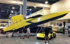 Lamborghini Aventador 3000hp Power boat Beautiful MTI