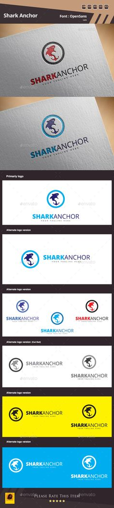 Shark Anchor Logo Template