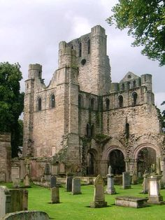 "Kelso Abbey 12th Century - Borders Scotland (The tiny village of Kelso was dubbed ""the most romantic if not the most beautiful place in Scotland"" by novelist and poet Sir Walter Scott)"