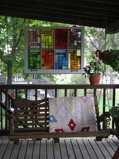 I need to pick up an old window at a garage sale!  Mosaic Windows for your Home  Garden by janesmosaics on Etsy, $325.00