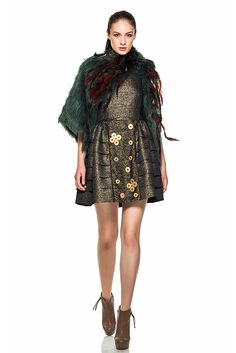 Furry details. Simona Semen FW2014 High Neck Dress, Detail, Dresses, Style, Fashion, Turtleneck Dress, Vestidos, Swag, Moda
