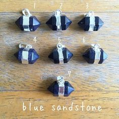 Natural Blue sandstone Healing Lucky Crystal Point Gemstone Alloy Metal Fashion Pendant Jewelry
