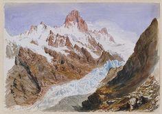 John Singer Sargent: Schreckhorn, Eismeer (from the Splendid Mountain Watercolours Sketchbook) (50.130.146frecto)   Heilbrunn Timeline of Ar...