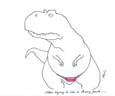 T-Rex Trying to use a fanny pack… #TRexTrying #fannypackproblems
