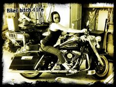 me on a Road King...love live the #bikerbitch!