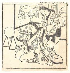 Hishikawa Moronobu | Leaf from a Book Entitled: Wakoku Hiaku-jo, One Hundred Japanese Women | Japan | Edo period (1615–1868) | The Met