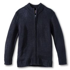 French Toast Boys' Zip-Up Cardigan Navy (Blue) 4, Boy's