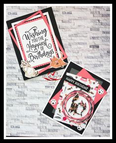 2 awesome designs created by, For The Love Of Stamping, using the cats from the Playful Pets DSP & Pets dies. All the details on these cards can be found on the link below. Dog Cards Handmade, Hand Made Greeting Cards, Puppies And Kitties, Fancy Fold Cards, Cat Cards, Animal Birthday, Cat Grooming, Animal Cards, Creative Cards