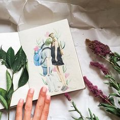 В день семьи 🌸 любви 🌸 и верности 🌸 презентуем эскиз для будущей открытки про…