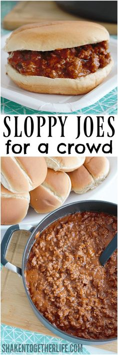 With just 5 ingredients, these Sloppy Joes for a Crowd are easy to make and a big hit with our large extended family!