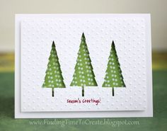 christmas-card-front by krafting kelly. Silhouette trees, sketched greeting